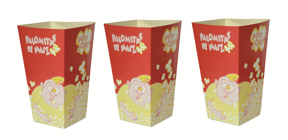 Cajas de palomitas de maíz