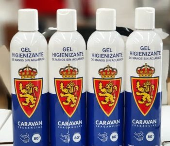 Gel higienizate del Real Zaragoza