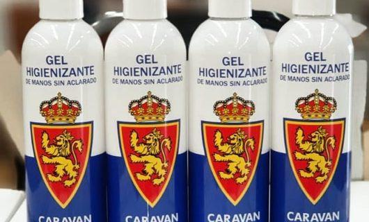 Gel higienizante de manos del Real Zaragoza